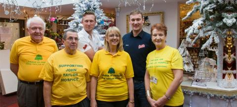 Halls Donate Christmas Decorations