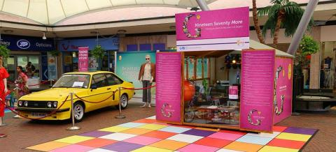 Halls Donate Shed To Sutton Coldfield Shopping Centre